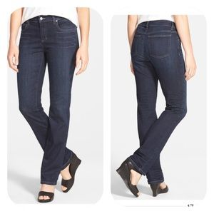 Eileen Fisher Straight Leg Stretch Jeans